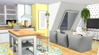 The Sims 4: Speed Build // TUMBLR OPEN PLAN APARTMENT + CC LINKS