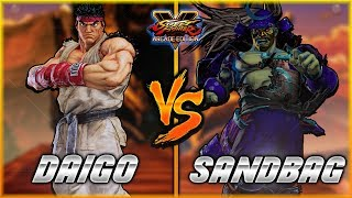 SFV/SF5 - Daigo's Ryu fights SandBag on some Ryu in this epic FT3 S...