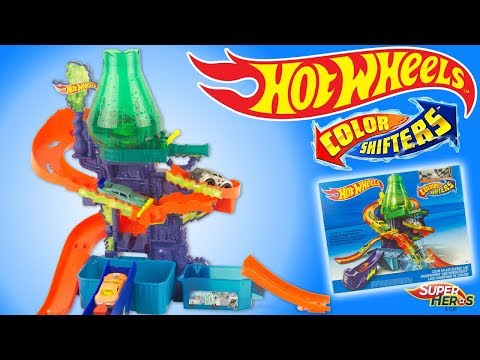 Color Shifters Hot Wheels Splash Science Lab TrackSet Toy Review Juguetes