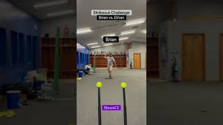 🥎Strikeout challenge! Brian vs. Ethan!🥎