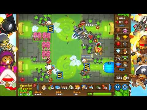 NEW MAP IN BLOONS TD5!! Toxic Waste Hard Gameplay