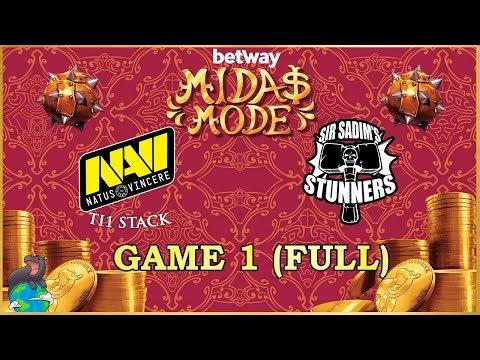 Na'Vi(+Slacks) Vs Sir Sadim Stunners Game 1 EU Semi Finals - Betway Midas Mode 2