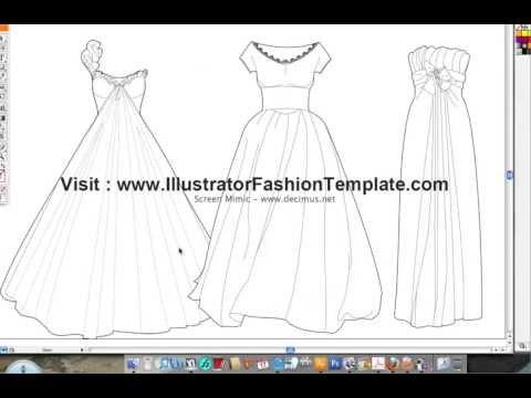Fashion templates Dress