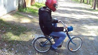 как сделать мотоцикл из подручных материалов