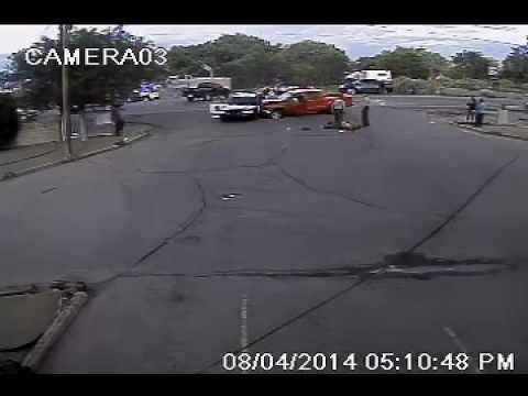 Surveillance footage: Deputy shoots, kills man who rammed into him