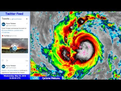 Cyclone Mekunu Live Update - May 23, 2018