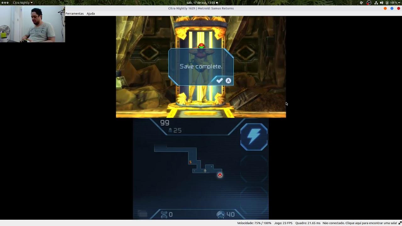 tutorial de como jogar Metroid Samus returns no linux com o emulador citra