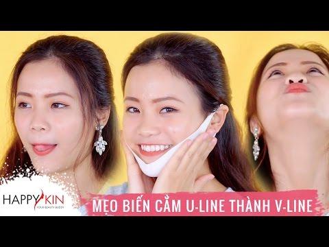 5 Mẹo Hô Biến Cằm U-Line Thành V-Line | HI BEAUTIES #10 | Happy Skin