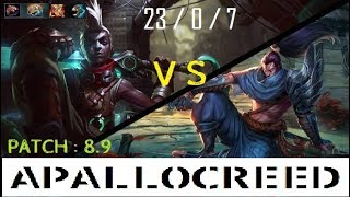 Apallocreed | Ekko vs Yasuo Mid Ranked Patch 8.9