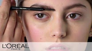 Retro Eyebrow Stying & Plumping Tutorial | L'Oreal