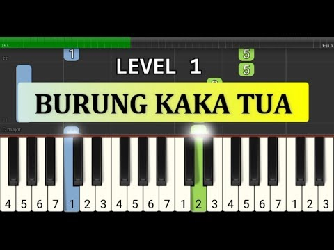 not piano burung kaka tua - tutorial level 1 - lagu daerah nusantara - tradisional -  maluku / ambon