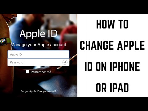 Change apple id account on iphone 6