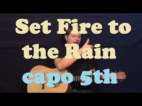 Set Fire To The Rain Adele Easy Strum Guitar Lesson How To Play