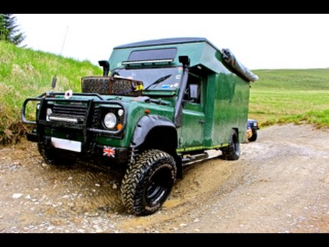 land rover 4x4 camper van off road in Wales