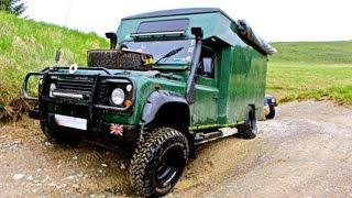 land rover 4x4 camper van off road in Wales