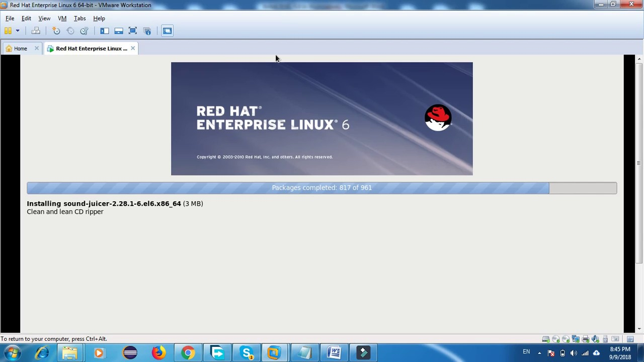 How to Install RHEL 6 8 64 bit In Vmware Workstation 10 Step by Step