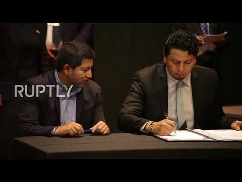 Bolivia: Russian Minister Novak signs 6 oil and gas memorandums with Bolivia