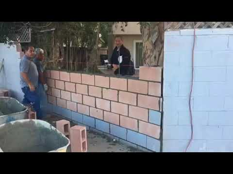Norwalk Block Wall Repair By Crown Construction 818 974 3210