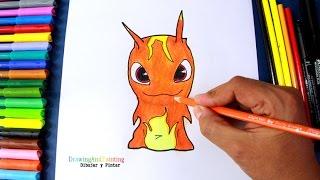 How to draw BURPY Infurnus (Slugterra) | Como dibujar la babosa infierno de Bajoterra