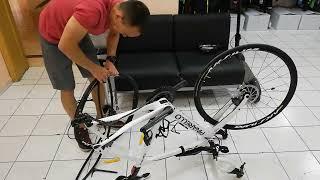 замена камеры на велосипеде заняла 2.46 минуты