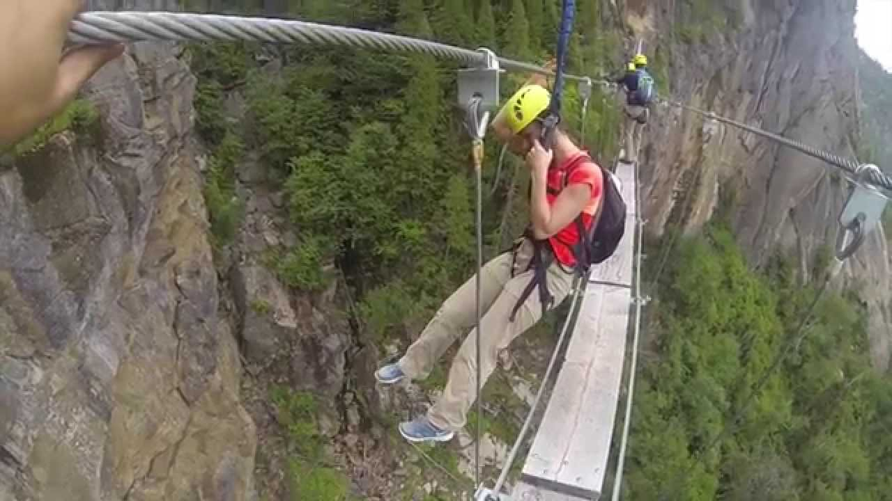 la via ferrata du fjord du saguenay youtube. Black Bedroom Furniture Sets. Home Design Ideas