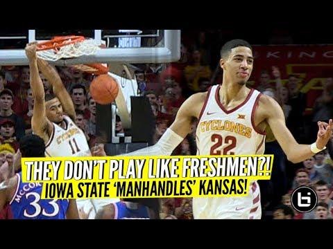 Tyrese Haliburton, Talen Horton-Tucker, Unranked Iowa State MANHANDLE #5 Kansas! Full HIghlights