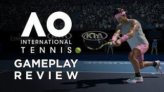 AO INTERNATIONAL TENNIS GAMEPLAY & REVIEW!