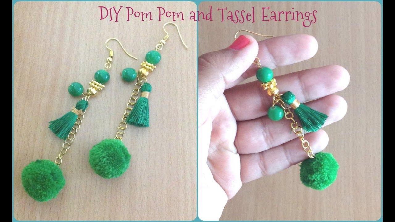 Diy Pom And Tel Earrings Ii Handmade