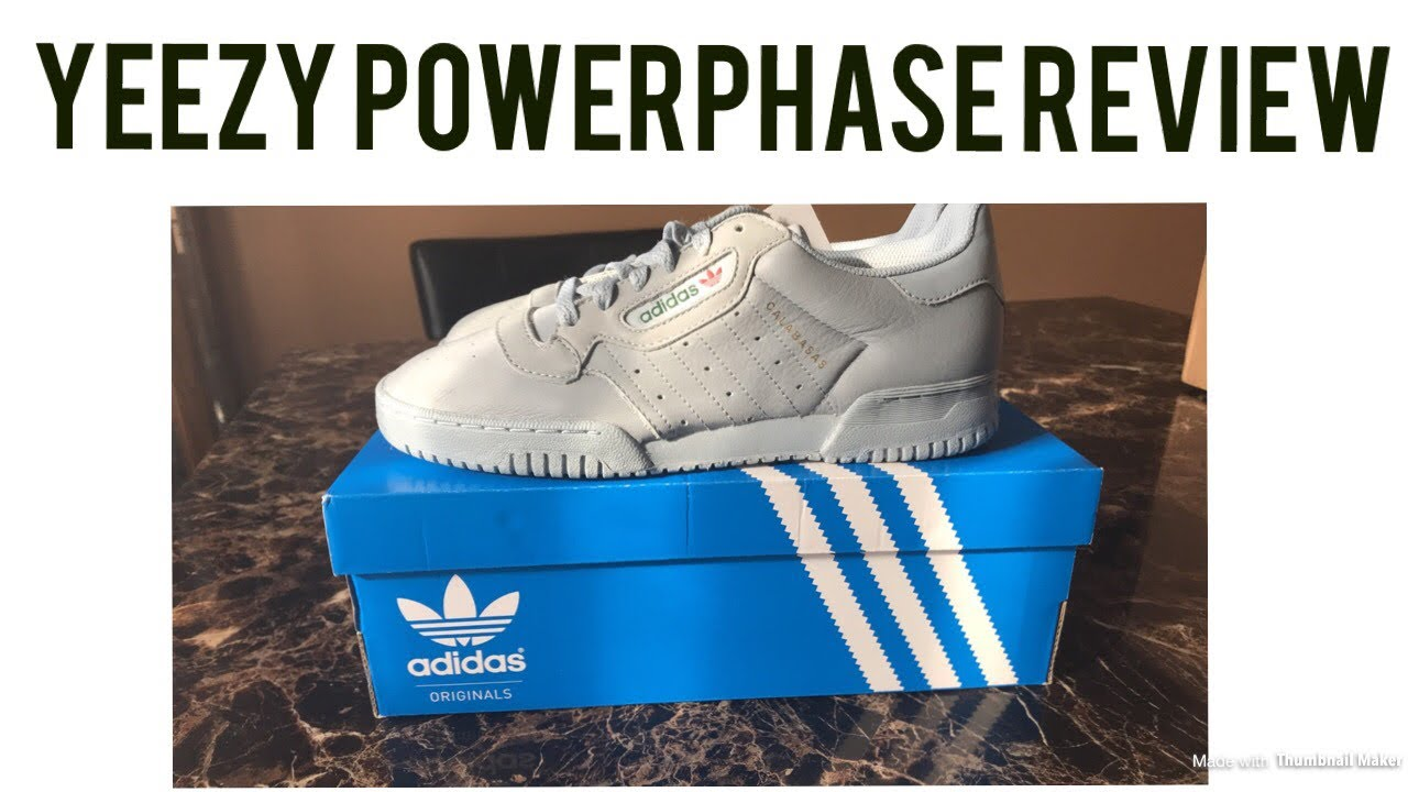 ab09bbabd73fc ADIDAS YEEZY POWERPHASE GREY REVIEW - YouTube