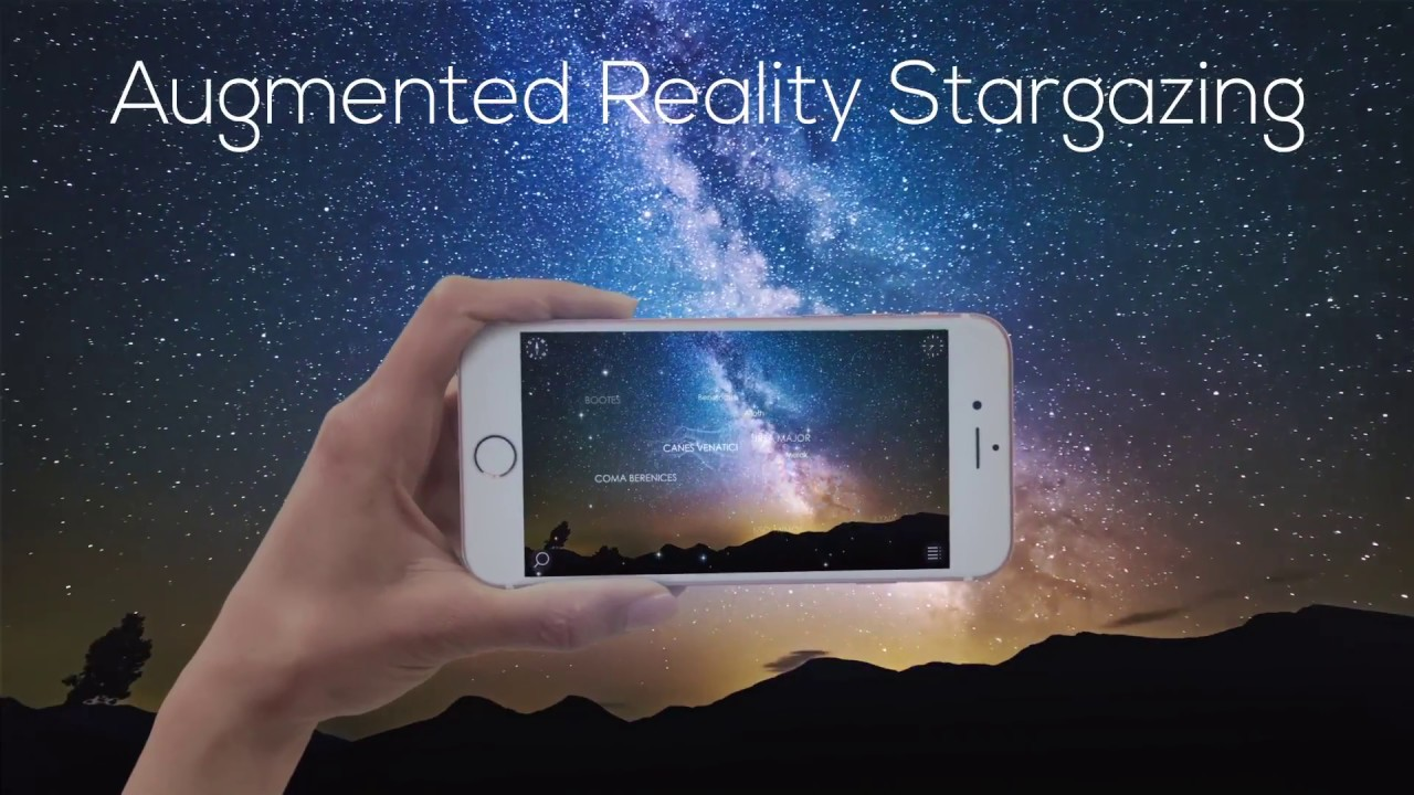 f556bfb7e15c Night Sky Map in Augmented Reality - Star Walk 2 app - YouTube