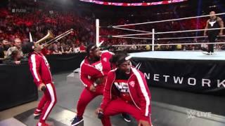 Зе Рок и Братья Усо побили Новый День Raw 25 Января 2016