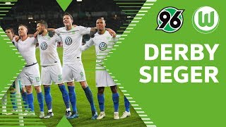 DERBYSIEGER – Stimmung nach Abpfiff   Hannover 96 - VfL Wolfsburg 0:2