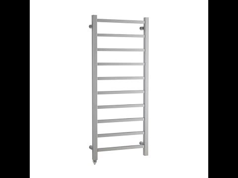 Square Tube Electric Heated Towel Rail in Chrome (Ballaugh). Buy Online.