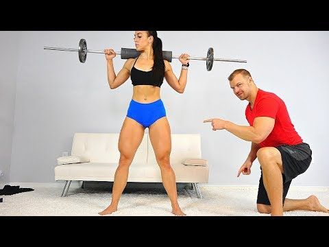 6 Exercises to Get STRONG Sexy Thighs Fast! (At Home or Gym)