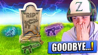 "Saying ""GOODBYE"" to one of the BEST GUNS in Fortnite..."
