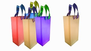 How to make Paper Bag (Home decorating ideas)