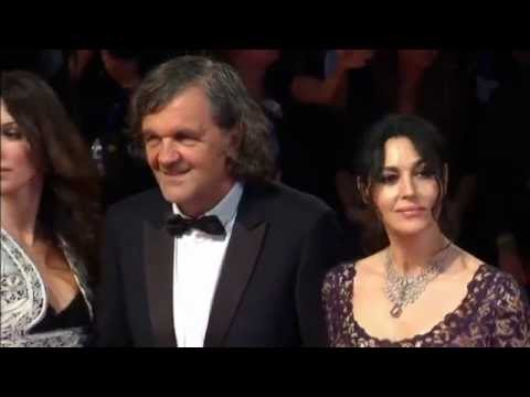 Serbian director-writer-actor Emir Kusturica and his leading lady Monica Bellucci on red carpet