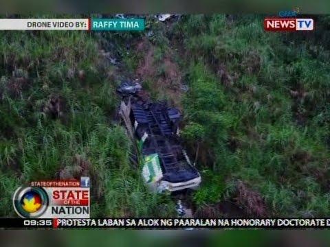 SONA: Bus na nahulog sa bangin sa Nueva Ecija, posibleng overloaded daw, ayon sa PNP