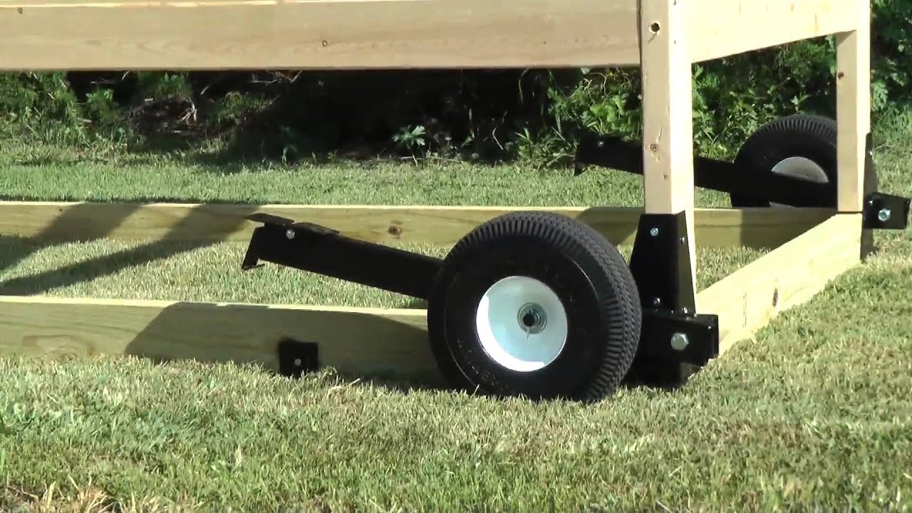 Swing Chicken Tractor Wheels : Chicken tractor wheel kit youtube