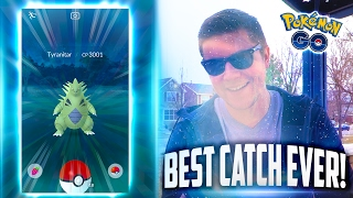 Pokemon Go - BEST POKEMON GO CATCH EVER! (INSANE 3000+ CP TYRANITAR!)