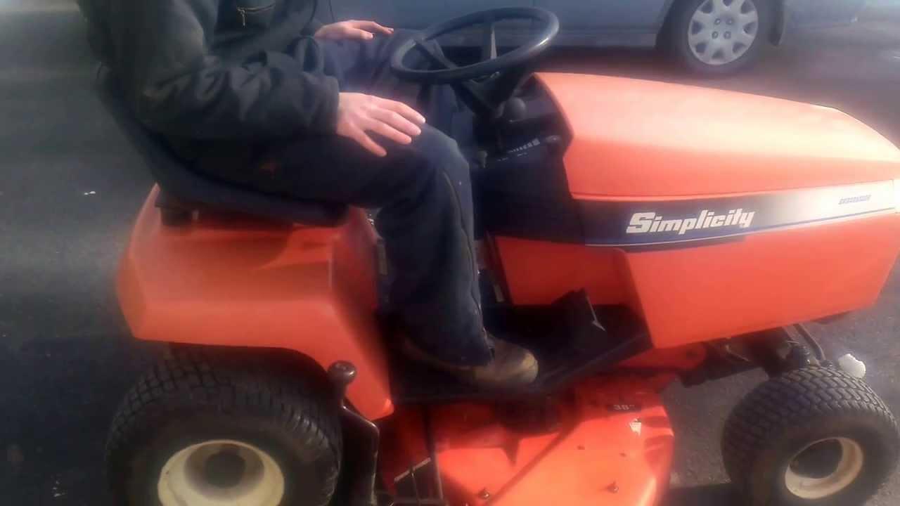 Simplicity Broadmoor 14hp Kohler Lawn Tractor Youtube