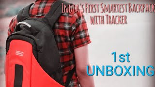 Smartest Anti-Theft Backpack in India!! CARRIALL |Unboxing|bluetooth|