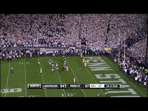 2013 Michigan at Penn State Football Highlights