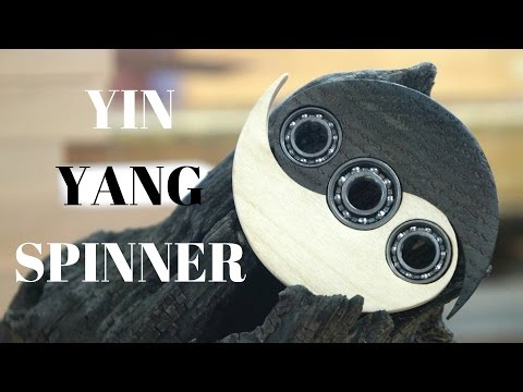 Thumbnail: Yin Yang Spinner (2000 year old bog oak and maple)