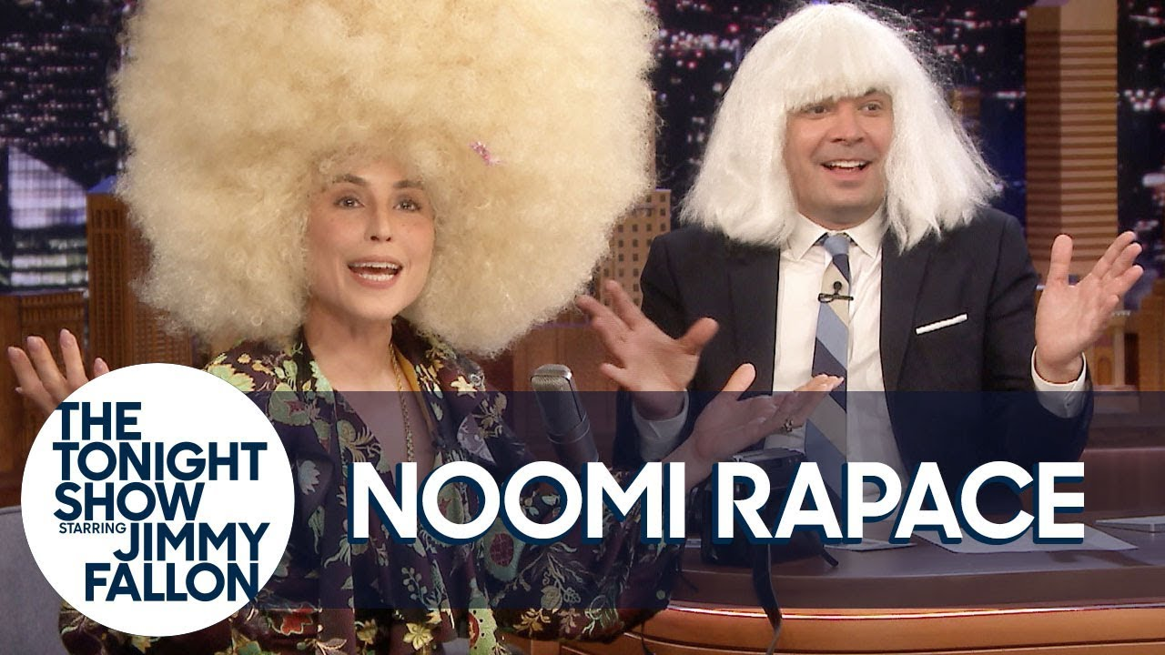 Noomi Rapace and Jimmy Struggle to Keep Serious in Wild Wigs
