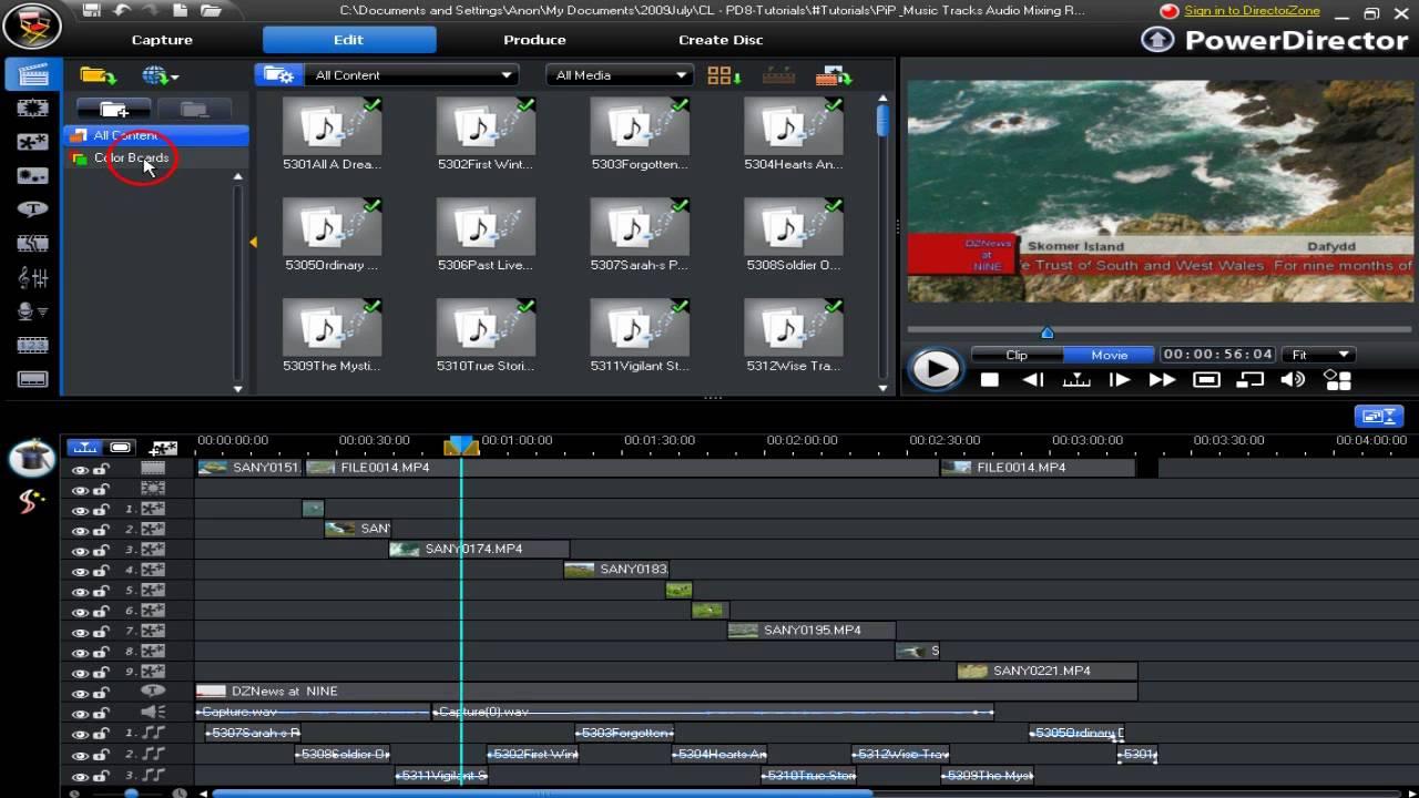 CyberLink PowerDirector 8 - Work Space Range Selection - YouTube