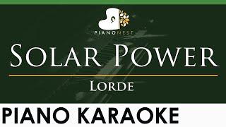 Lorde - Solar Power - LOWER Key (Piano Karaoke Instrumental)