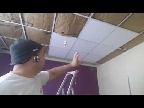Rona comment poser un plafond suspendu doovi for Pose faux plafond dalle
