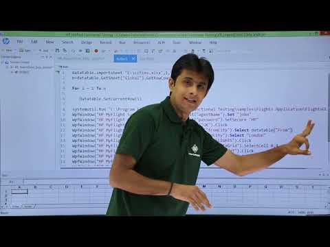 HP UFT/QTP - Import Data in Excel and use in Scripts