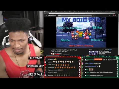 Etika Reacts To His Rap - MY BOIII PT.2 (Etika Stream Highlight)